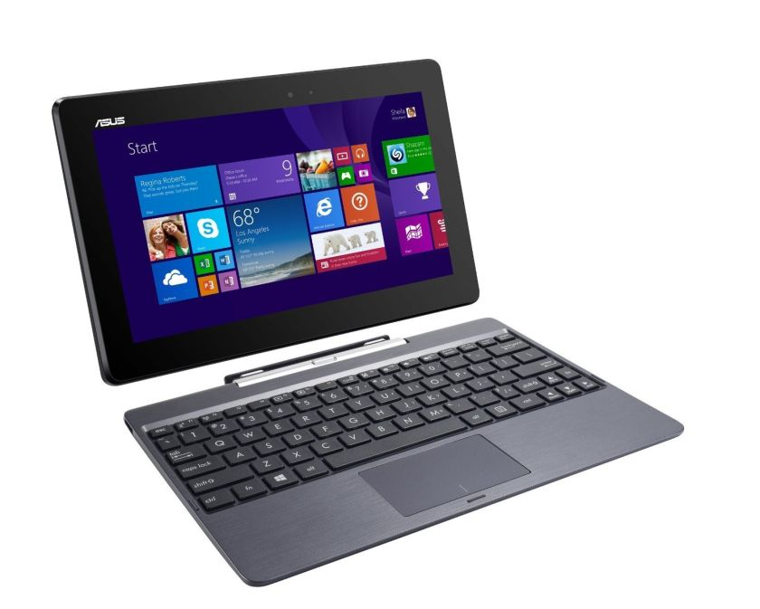 Asus Transformer Book 10.1-inch 32GB Detachable 2-in-1 Touch Laptop/Tablet T100TA 2GB RAM With Keyboard Dock - Grey (Certified Refurbished)