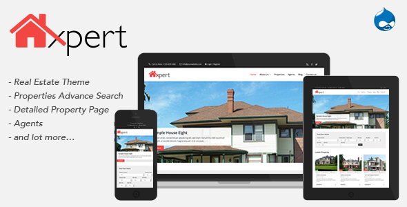 Homexpert - Drupal Real Estate Theme