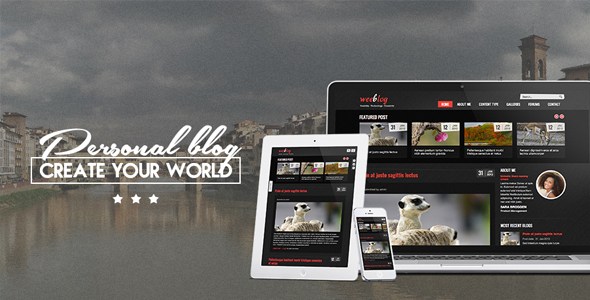 Personal Blog - Awesome Blog Theme for Drupal