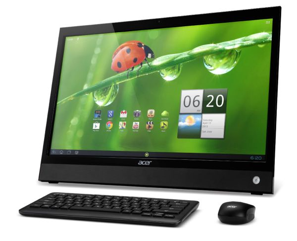 Acer DA220HQL 21.5-Inch Android All-in-One Touchscreen Desktop (Black) 2013 Model