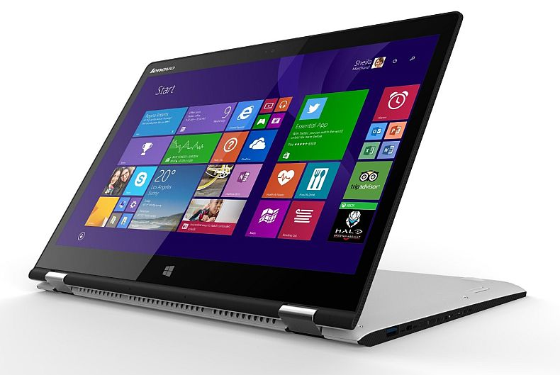 """Lenovo - Yoga 3 2-in-1 14"""" Touch-Screen Laptop - Intel Core i5 - 8GB Memory - 128GB Solid State Drive - Black"""