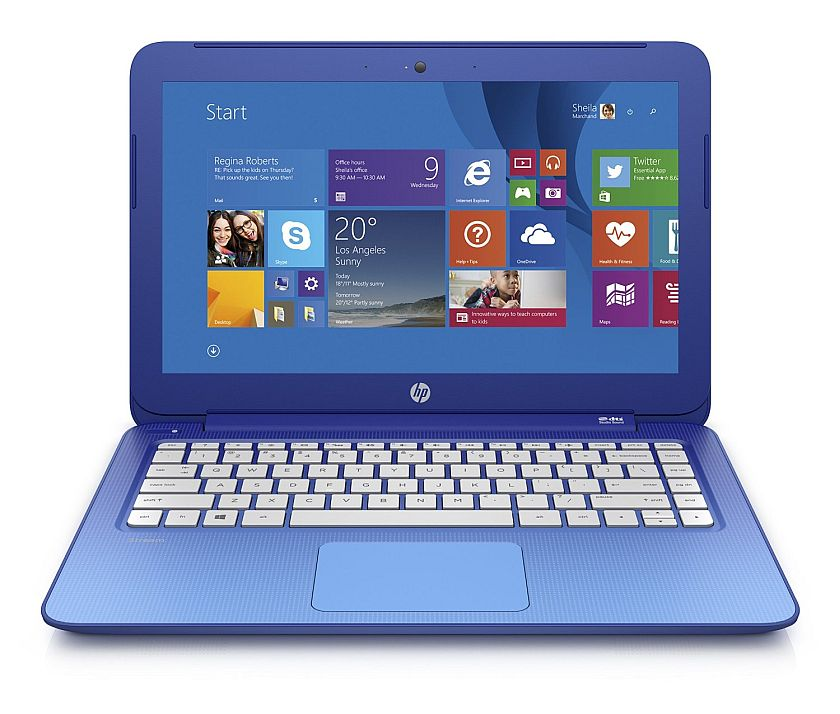 HP Stream 13.3 Inch Laptop (Intel Celeron, 2 GB, 32 GB SSD, Horizon Blue) Includes Office 365 Personal for One Year- Free Upgrade to Windows 10
