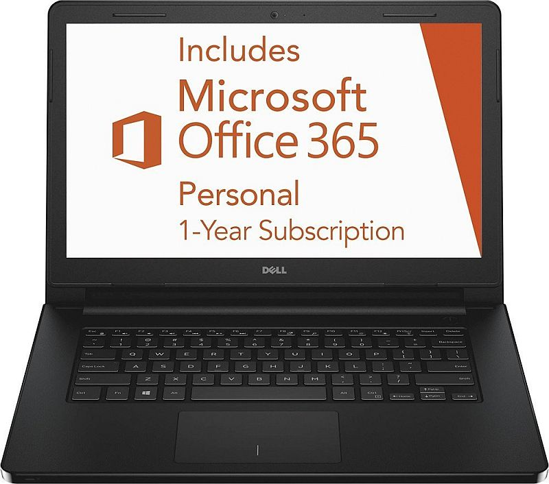 "Dell Inspiron 3452 14"" Windows 10 Laptop Intel Celeron N3050 2GB 32GB eMMC Flash with Office 365 Personal for One Year"