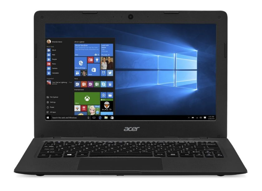Acer Aspire One Cloudbook, 11.6-inch HD, Windows 10, Gray (AO1-131-C9PM)