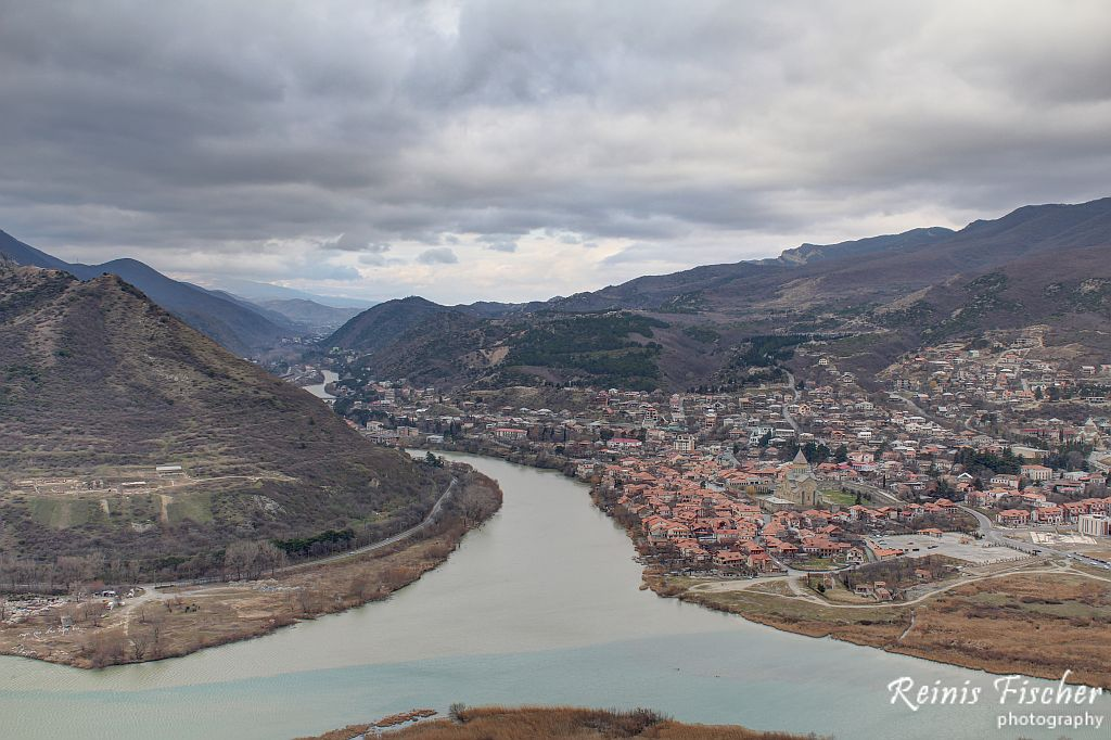 Mtkari and Aragvi river delta's at Mtskheta
