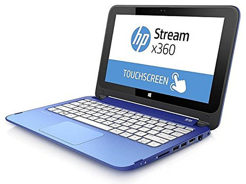 HP Stream X360 11.6-inch Premium Built Touch-Screen Convertible Laptop Intel N2840 up to 2.58GHz 2GB DDR3L 32GB eMMC HDD, with 1 year office 365 and $25 Windows Store credit
