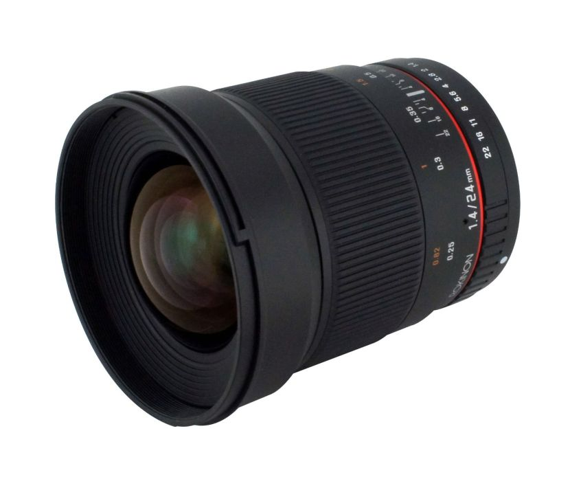 Rokinon 24mm F/1.4 Aspherical Wide Angle Lens for Canon RK24M-C