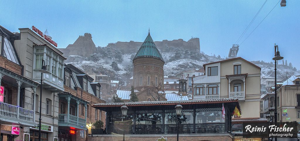 Tbilisi Old Town with Narikala Fortress atop of it