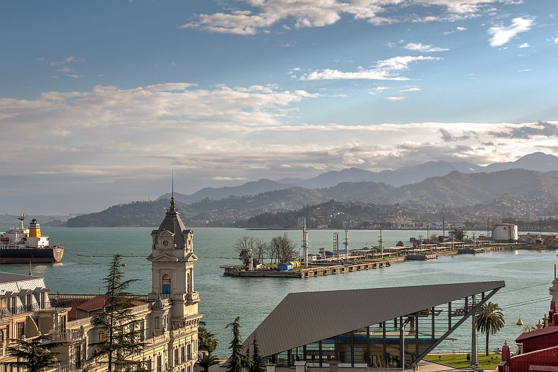 View towards Batumi bay from roof