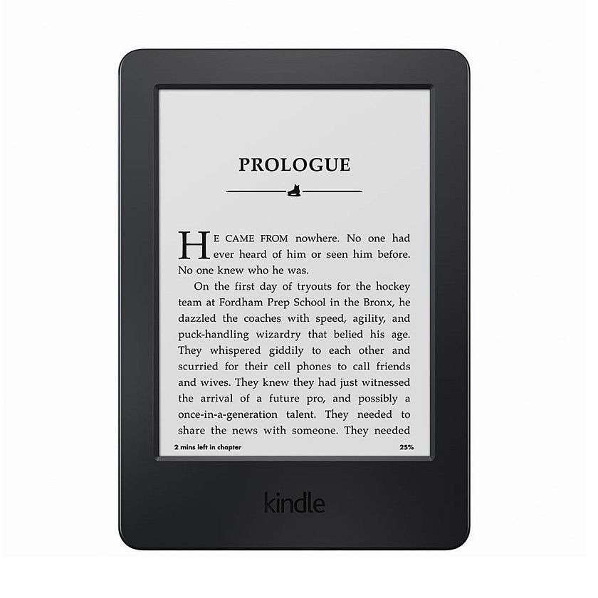 "Kindle, 6"" Glare-Free Touchscreen Display, Wi-Fi - Includes Special Offers"