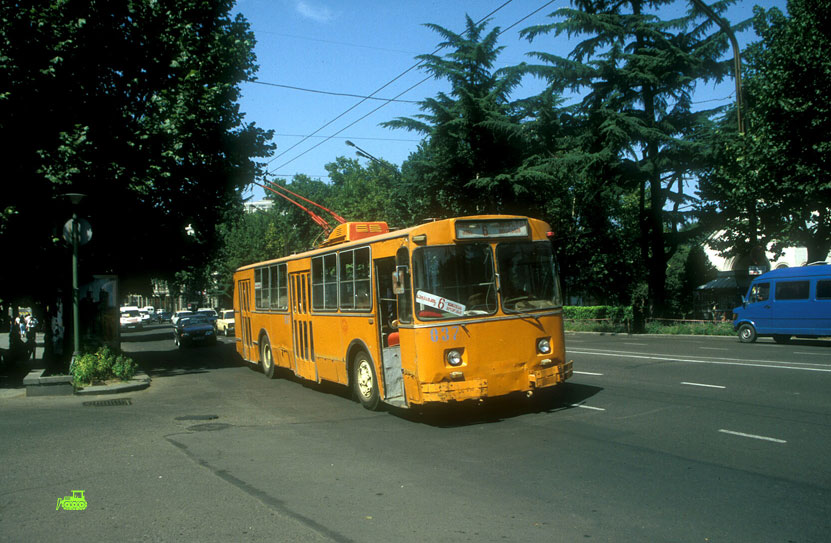ZiU-9 Trolleybus on Rustaveli Prospect