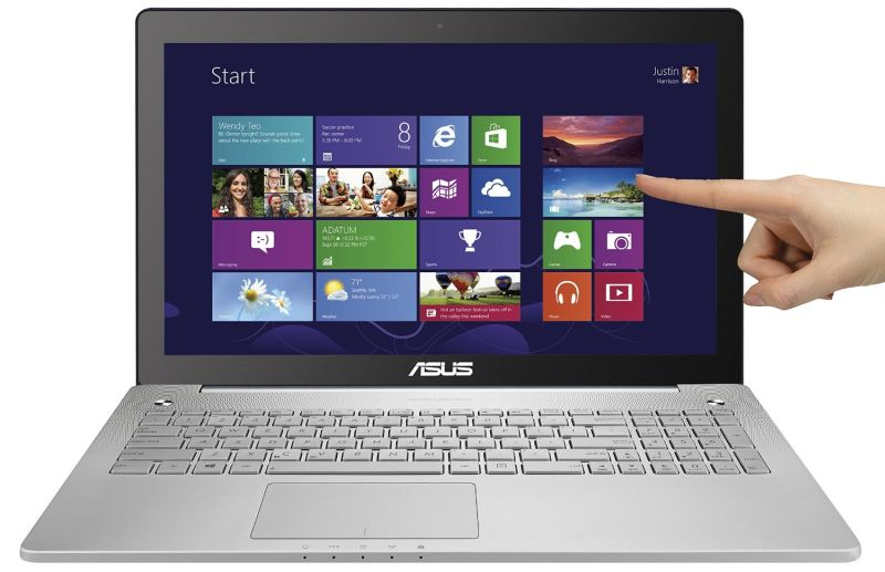 "ASUS N550JK-DS71T 15.6"" Full-HD Touchscreen Quad Core i7 Laptop w/ Aluminum-Body, 8GB RAM & 1TB HD"