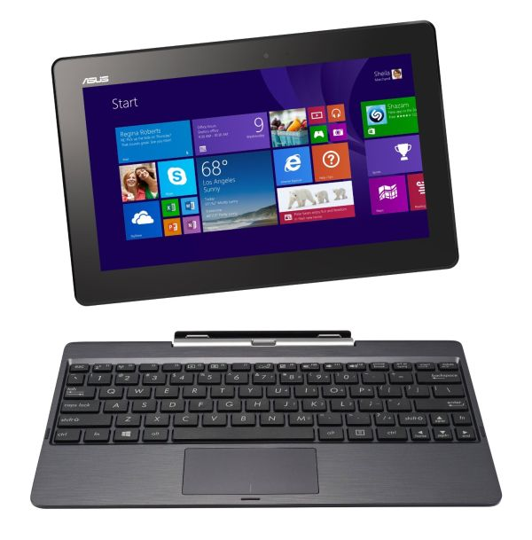 "ASUS Transformer Book T100TA-H2-GR 10.1"" Detachable 2-in-1 Touchscreen Laptop, 64GB+500GB (Grey)"