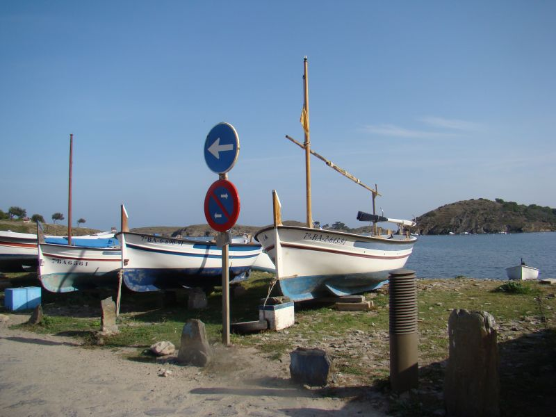 Boats at Cadaques bay