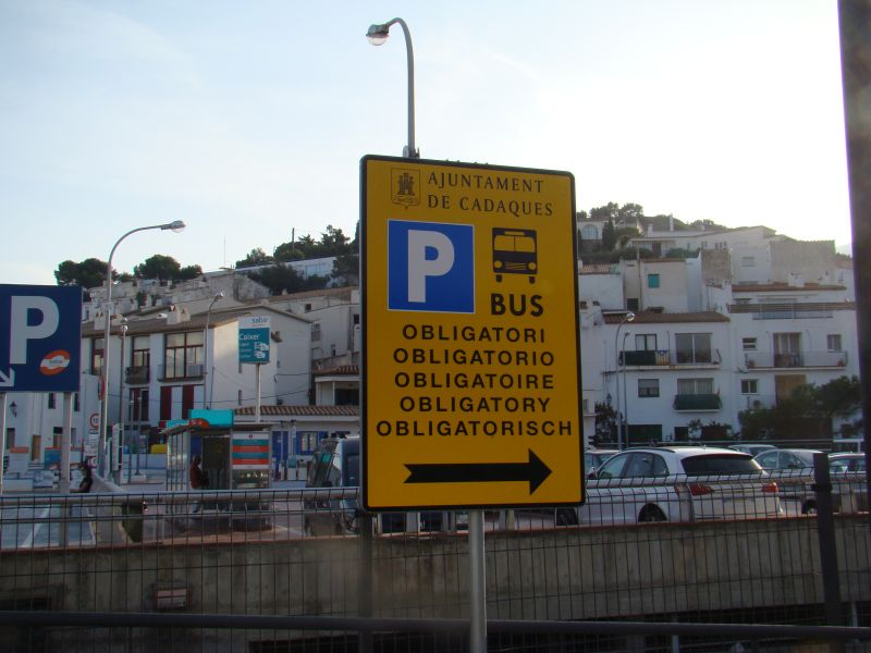Road sign at Cadaques
