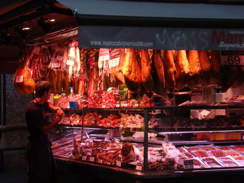 At La Boqueria Market in Barcelona
