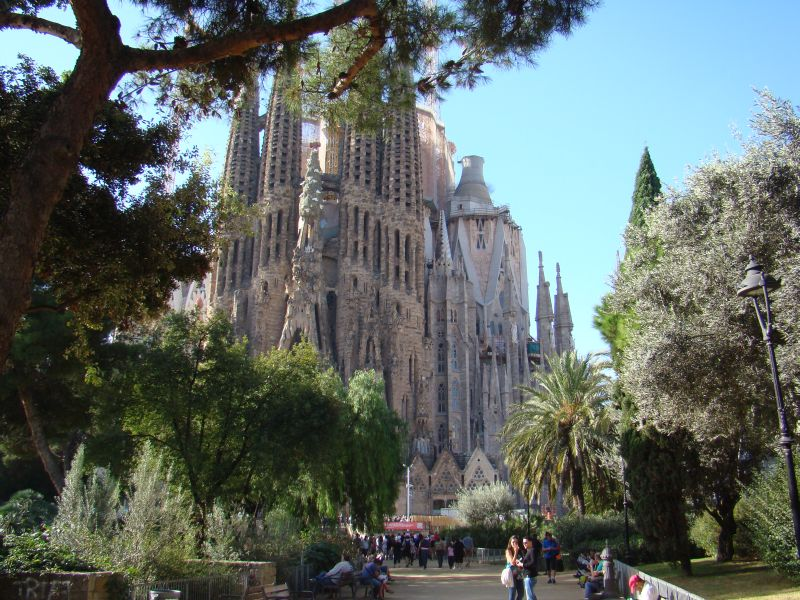 La Sagrada Familia from distance