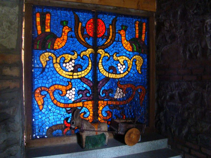 Stained Glass at entrance of Restaurant