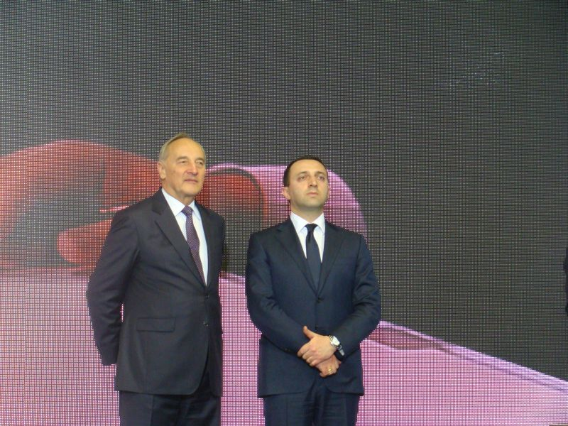 President of Latvia Andris Berzins and Prime Minister of Georgia Irakli Garibashvili