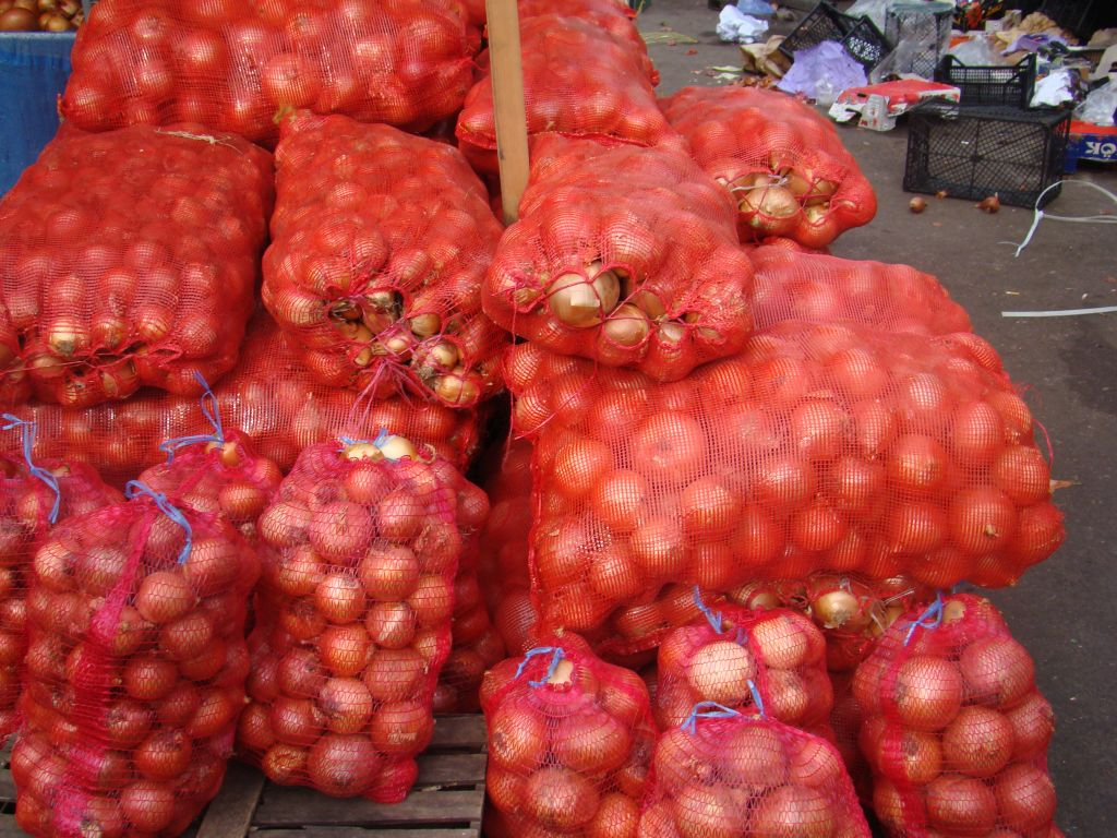 Onions for sale at Tbilisi Dezerter Bazaar