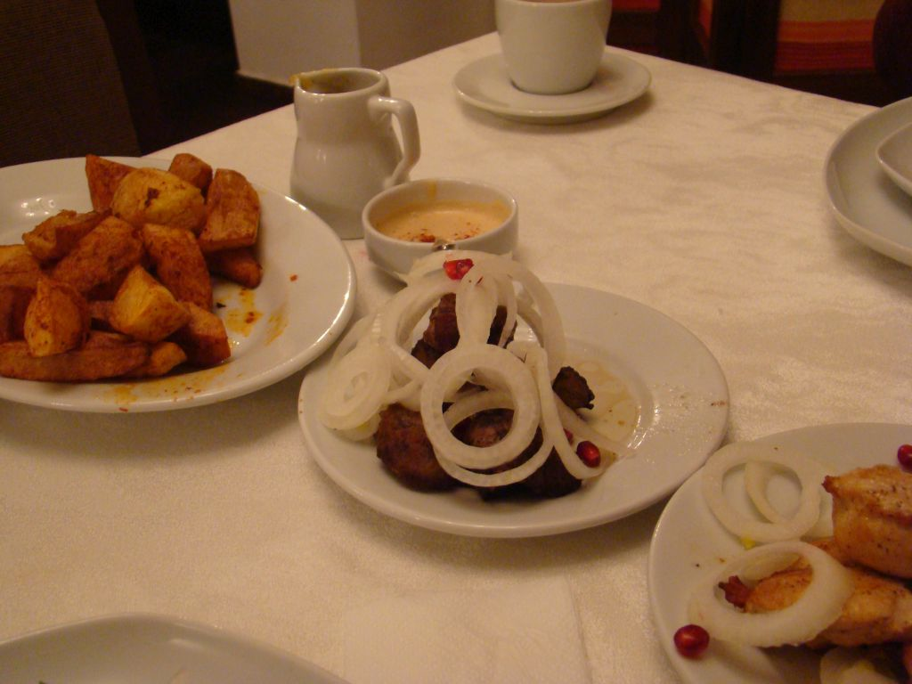 Georgian Traditional cuisine at hotel rabath