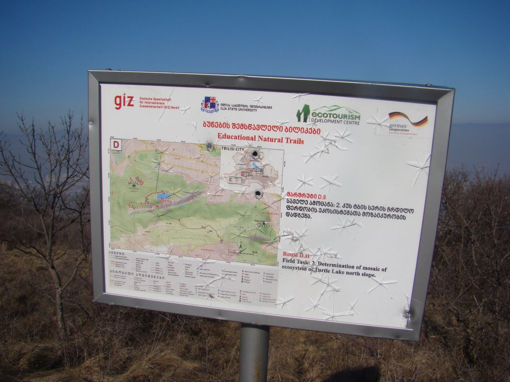 Sign of Educational Natural Trails