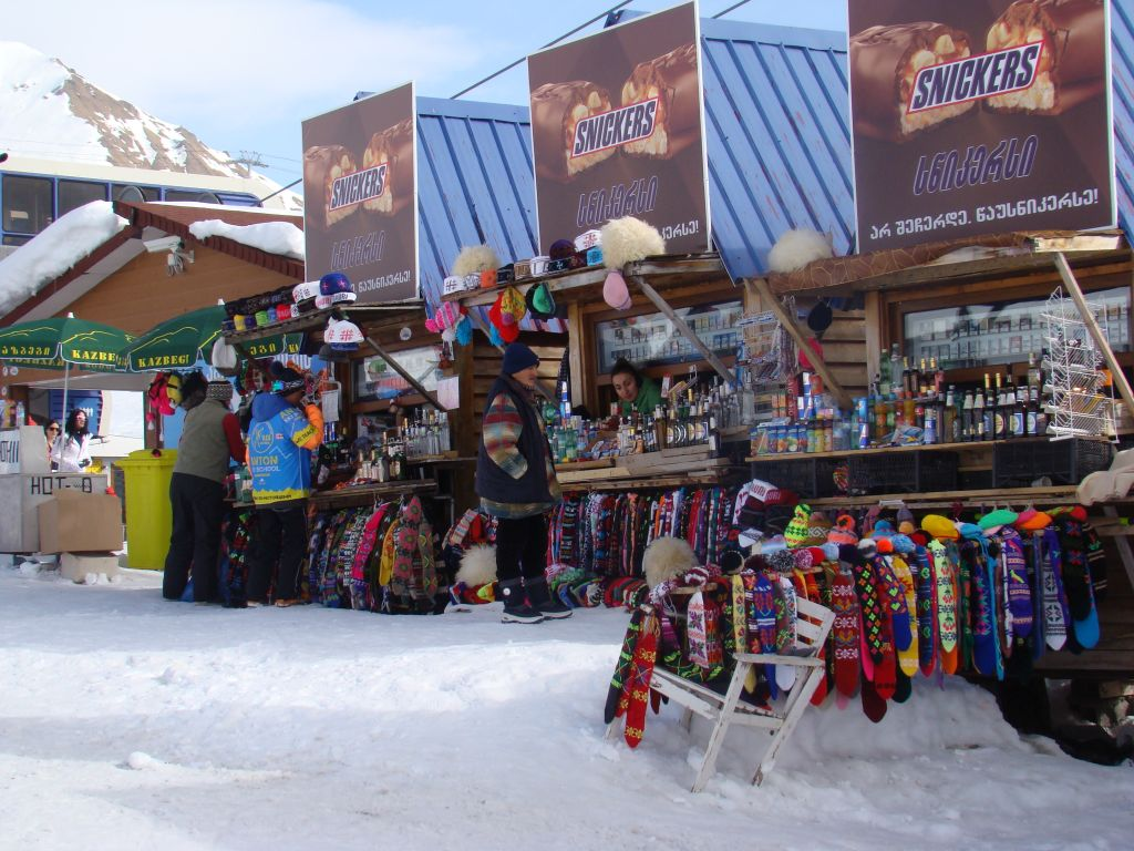 Kiosks at Gudauri