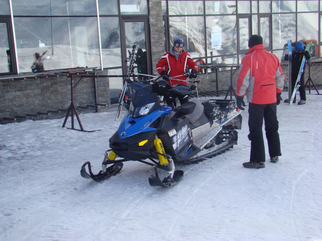 Snow bike at Gudauri