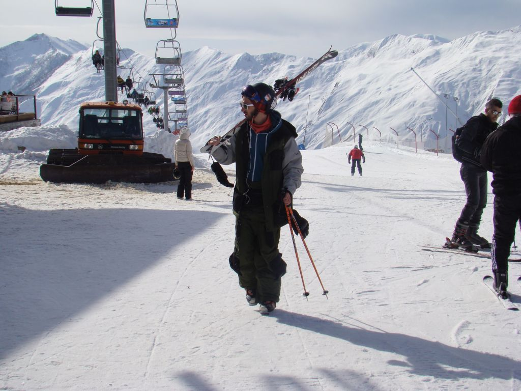 Skier at Gudauri winter resort