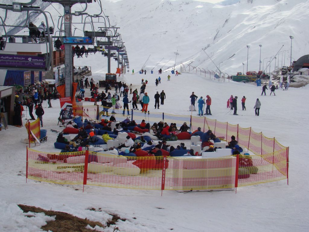 Rest area at Gudauri skiing slopes