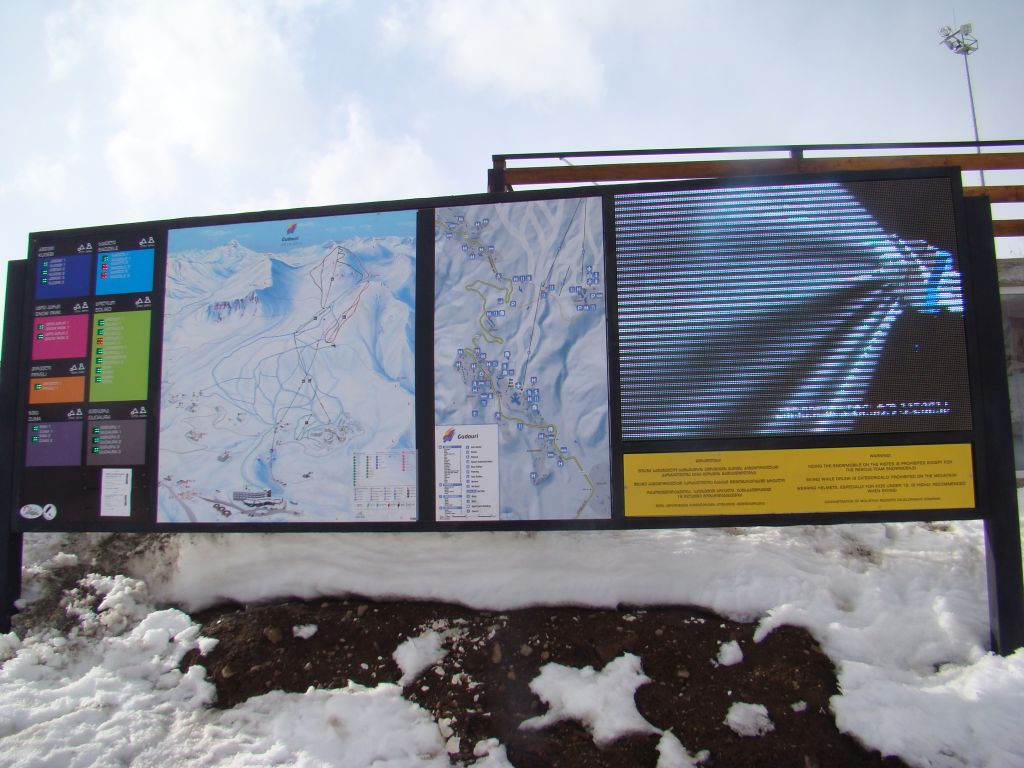 Map of Gudauri skiing slopes