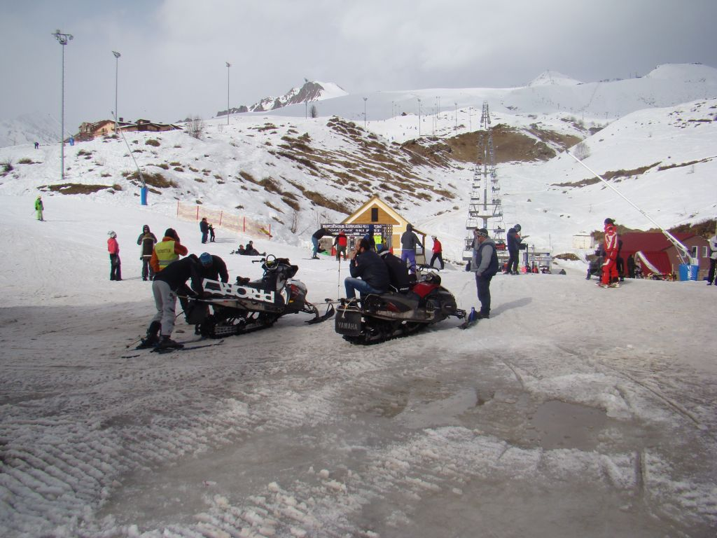 Snow bikes at Gudauri