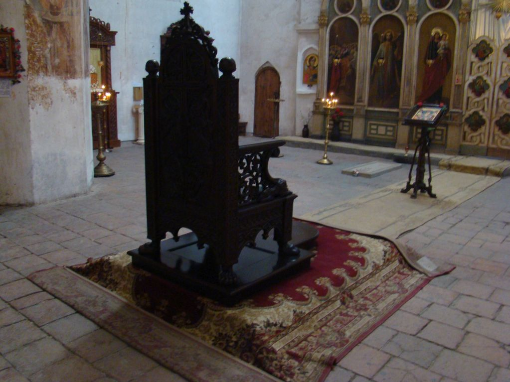 Holy Seat at Ananuri church