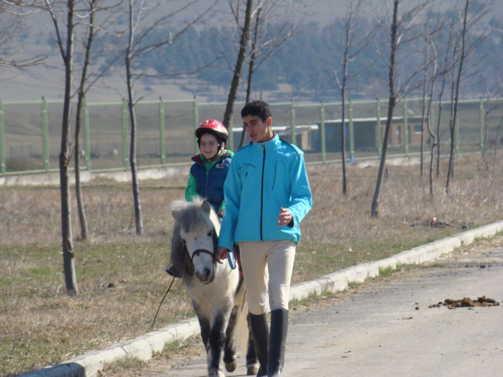 A pony riding at Tbilisi Hippodrome