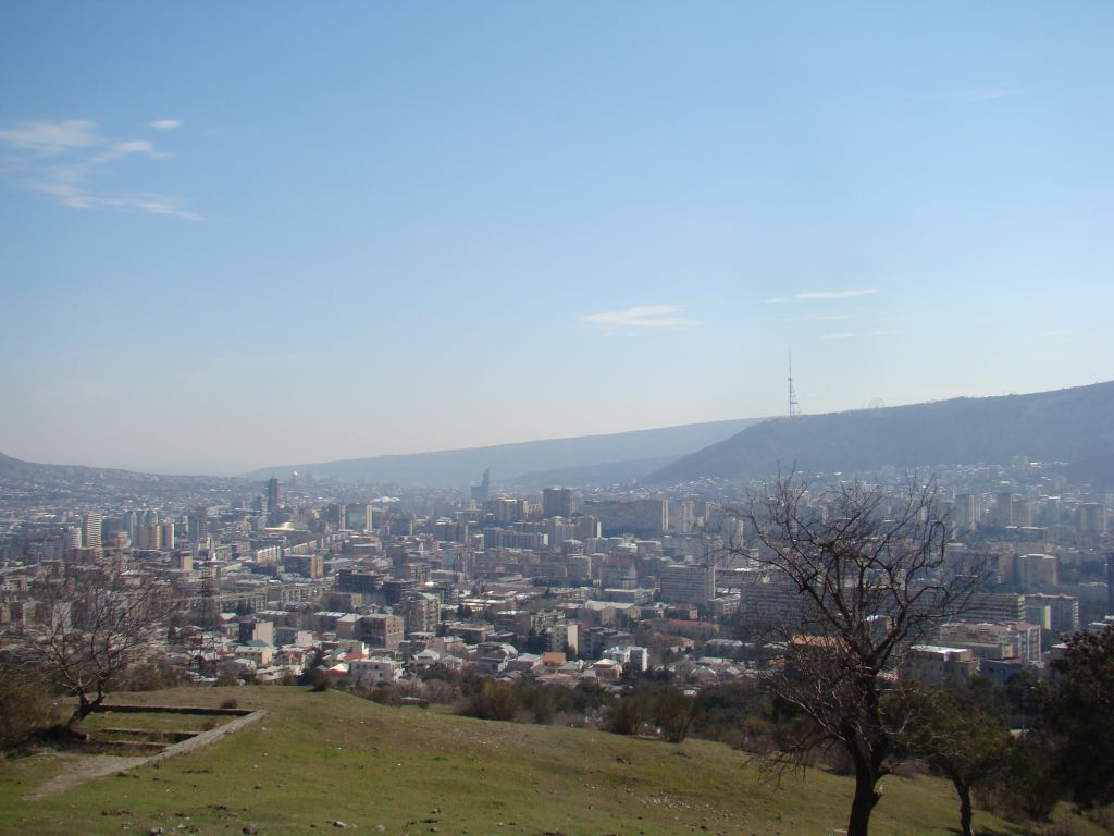 View to Tbilisi from road leading to Lisi lake