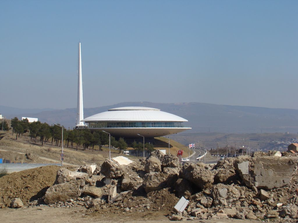 UFO landed in Tbilisi - actually it's some emergency call centre building
