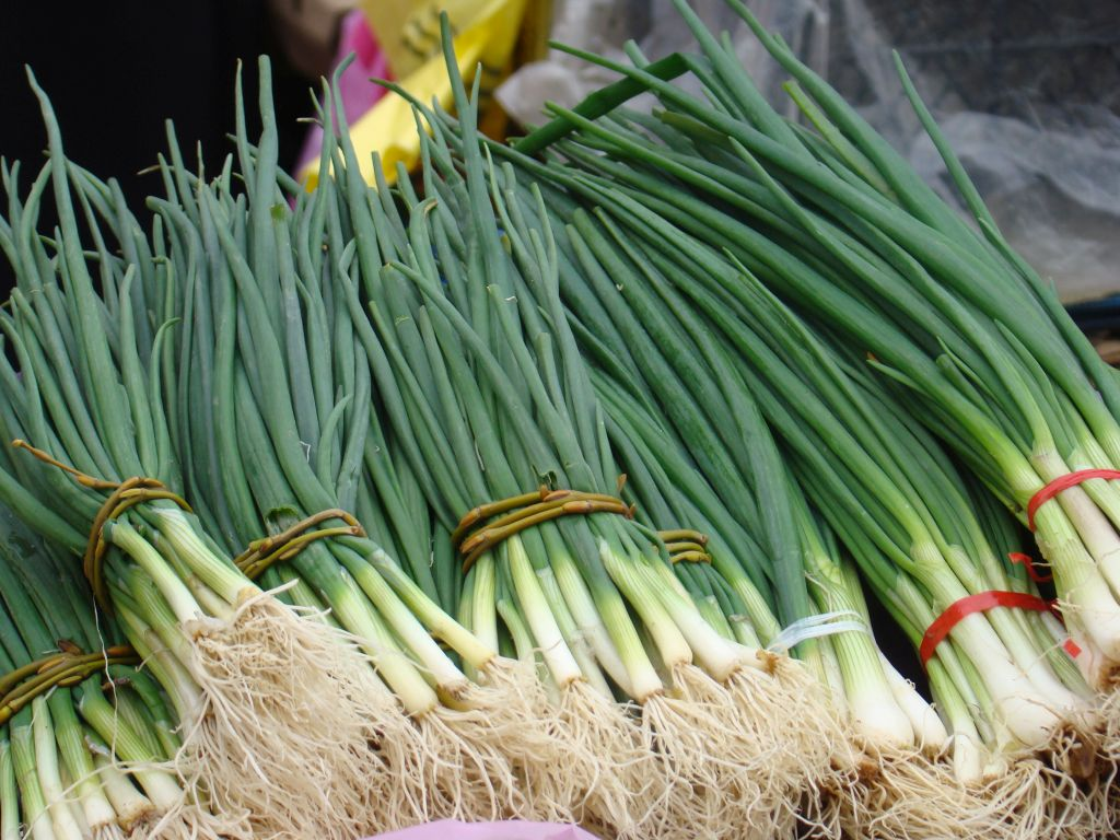 Spring Onions at Tbilisi market