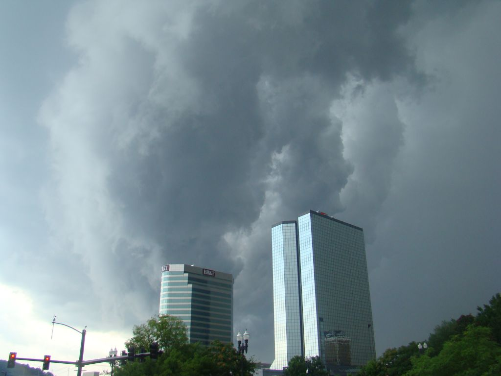 Thunderstorm in Down town Knoxville