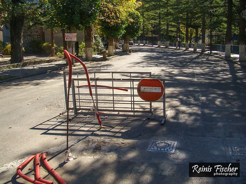 Reconstruction works in Borjomi