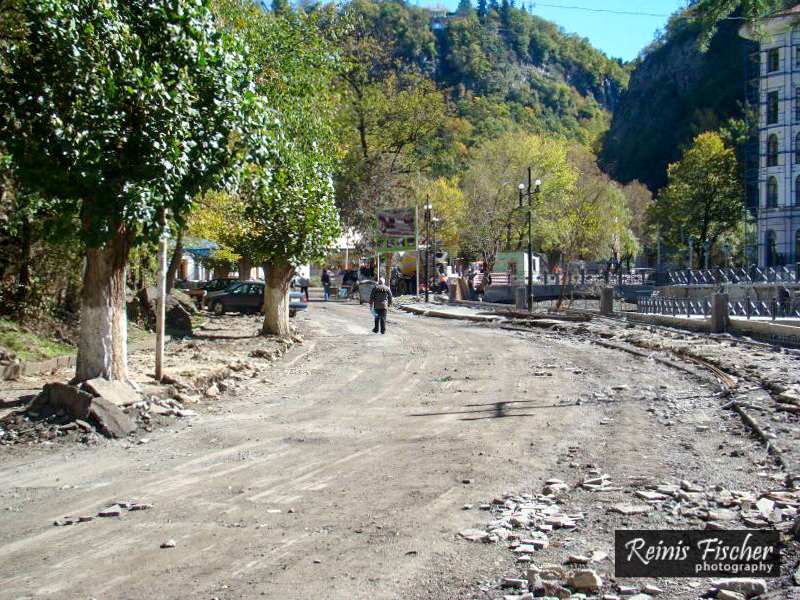 Construction works in Borjomi