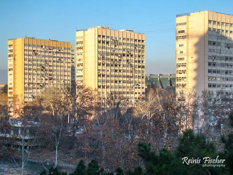 Apartment blocks in Tbilisi