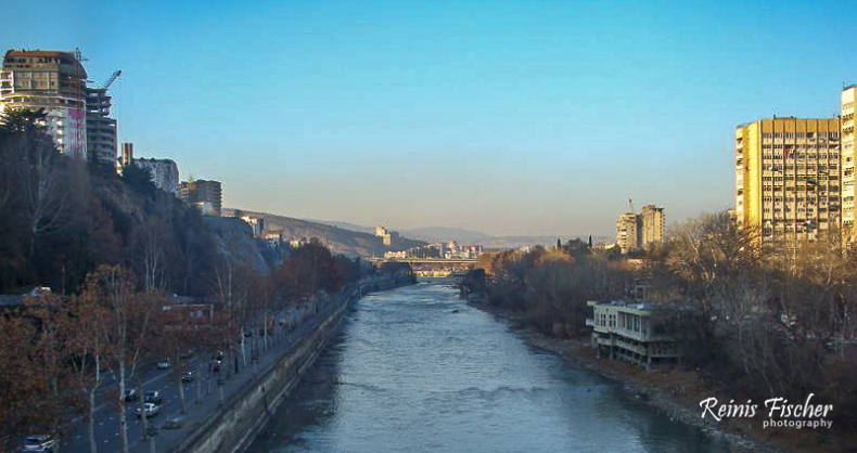 Mtkvari river in Tbilisi