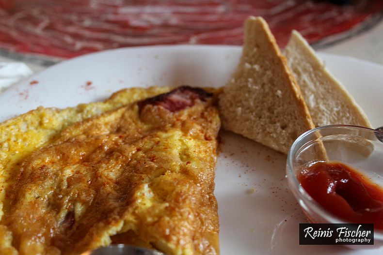 Omelet at Kamara art cafe