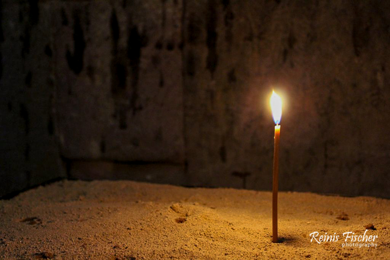 Candle at Jvari monastery