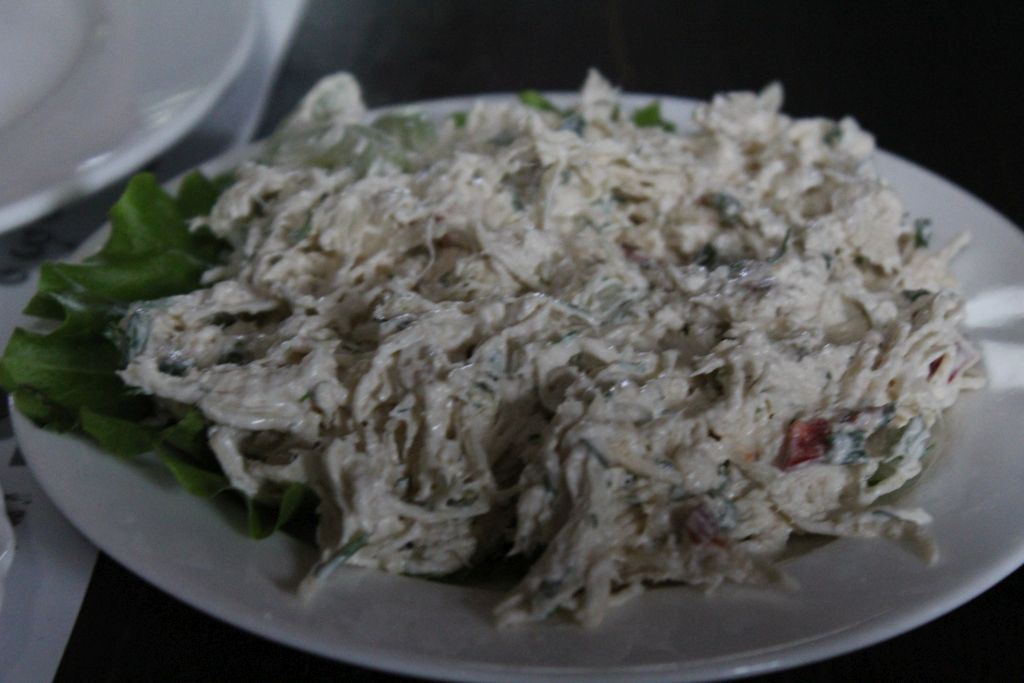 Chicken salad at Chashnagiri Natakhtari restaurant