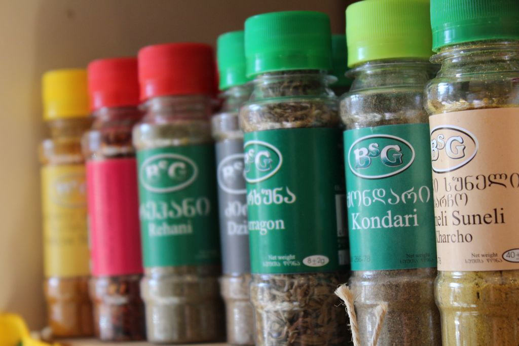 Georgian spices at Aristaeus boutique shop