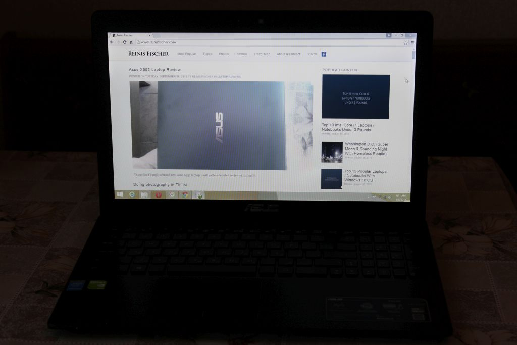 Browsing the web using ASUS X552M