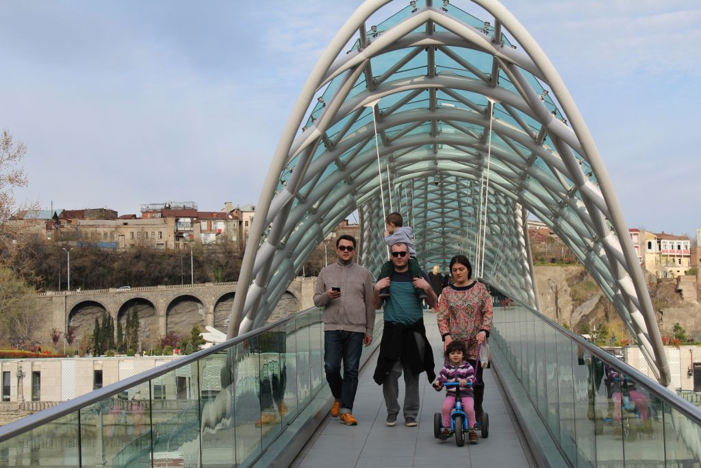 The Bridge of Peace in Tbilisi