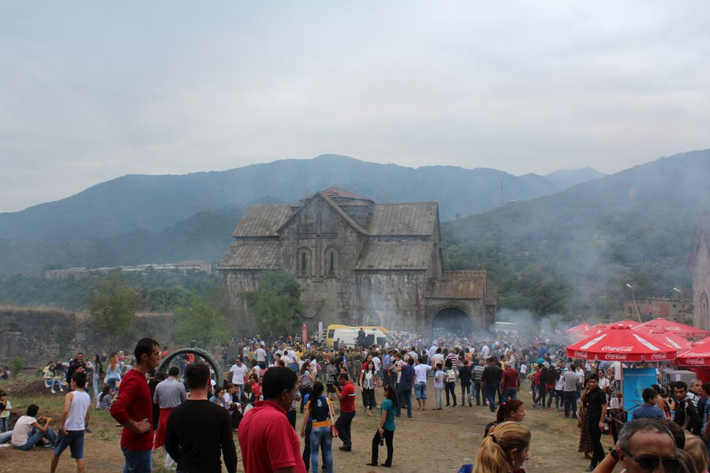 Barbecue festival held at Akhtala monastery