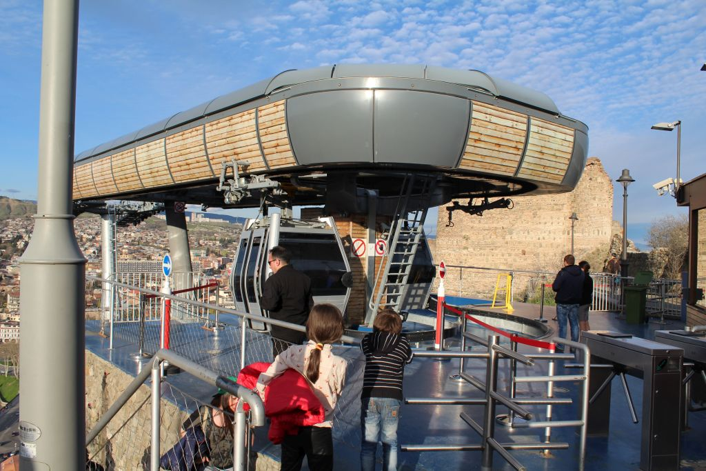 Cable car station at Narikala